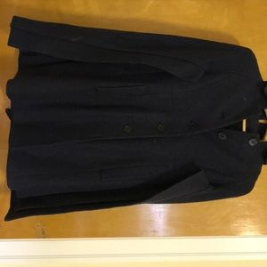Ann Taylor Navy Wool Cape